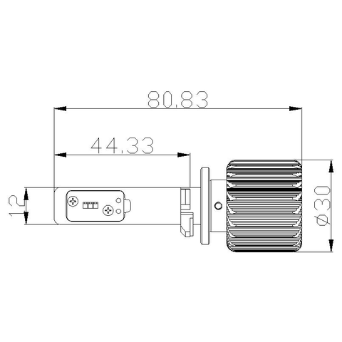 Набор светодиодного головного света UP-7HL-881W-4000Lm (881, 4000 лм, холодный белый) Превью 4
