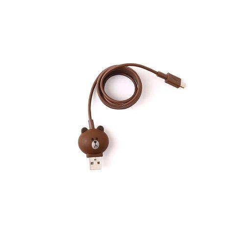 Micro-USB 5-контактний кабель для підключення смартфона (Line Friends – Brown) Прев'ю 1