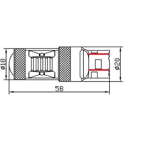 LED лампа тормоза UP-7G-T20DWB-30W(7443) (белая, 12-24 В) Превью 1