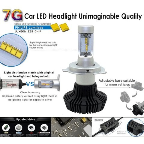 Car LED Headlamp Kit UP-7HL-PSX26W-4000Lm (PSX26, 4000 lm, cold white) Preview 2