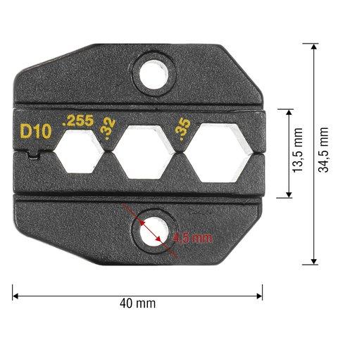 Матрица для кримпера Pro'sKit 1PK-3003D10 - Просмотр 2