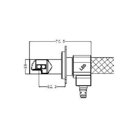 Набір світлодіодного головного світла UP-G5-H4HL-CR-3000lm (H4, 3000 лм, холодний білий) Прев'ю 4